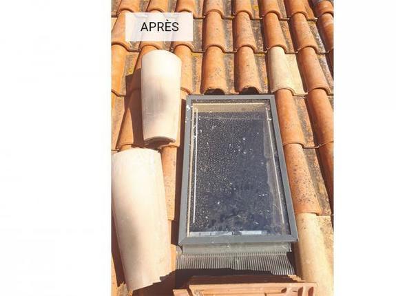 Pose fenêtre de toit