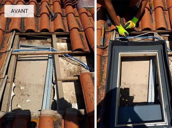 Création fenêtre de toit